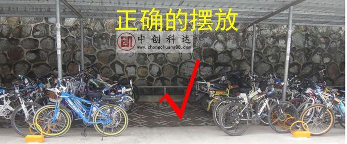 工厂自行车停车场怎么可以停放更多自行车